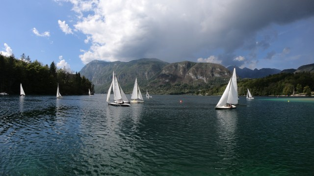 Sailboating on Lake Bohinj. By @travelingintandem
