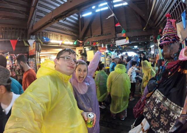 Rain storm ponchos Bangkok, Thailand @travelingintandem