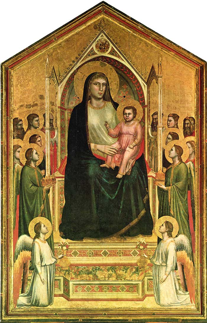 Cimabue Madonna Enthroned With Angels And Prophets : cimabue, madonna, enthroned, angels, prophets, Tuscany, Giotto, Bondone, Ognissanti, Madonna, (Madonna, Maestà)