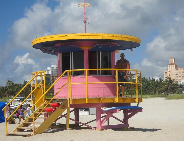Hot lifeguard in South Beach