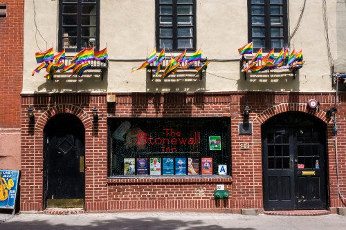 Stonewall Inn in NYC. Birthplace of the Stonewall Riots Uprising that ignited the LGBTQ rights movement.
