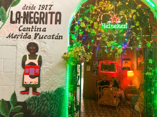 La Negrita Cantina is Merida's most popular cantina
