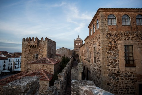 Old Town of Caceres in Extremadura Spain