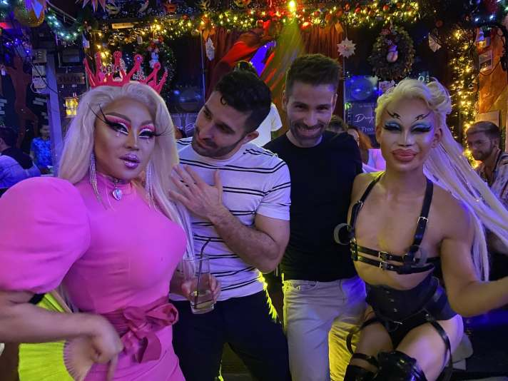 Nomadic Boys with drag queens in Bangkok, Thailand