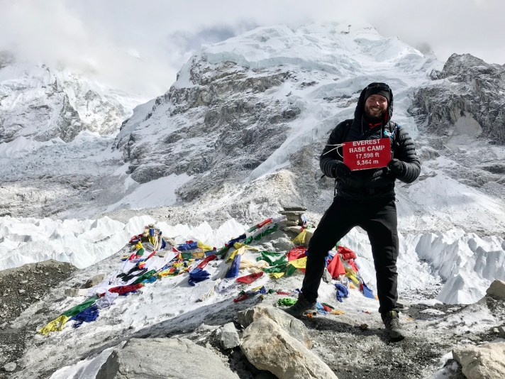 Robert Sharp in Mount Everest Base Camp