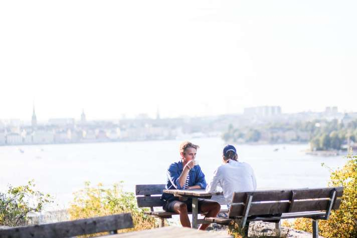 Two boys in Södermalm in Stockholm