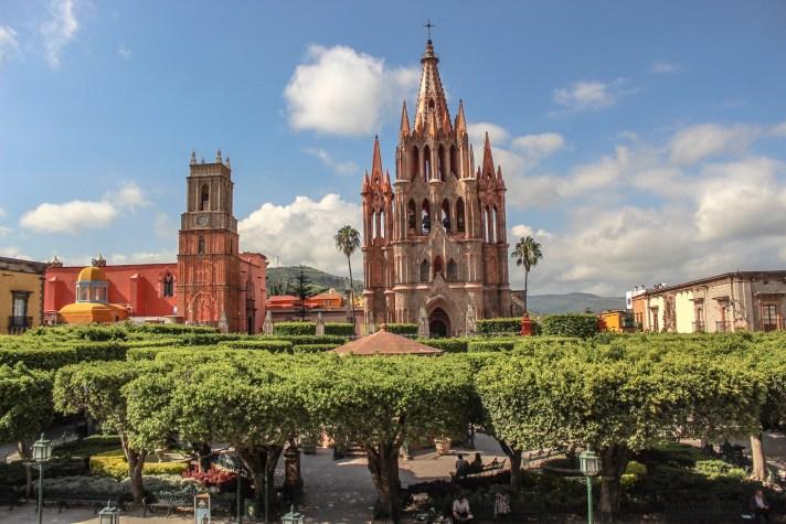 Jardin, central plaza in San Miguel de Allende