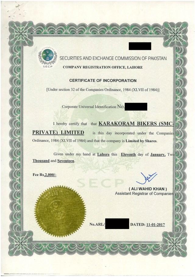 Pakistani Company Registration