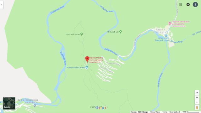 Machu Picchu Map Aguas Calientes