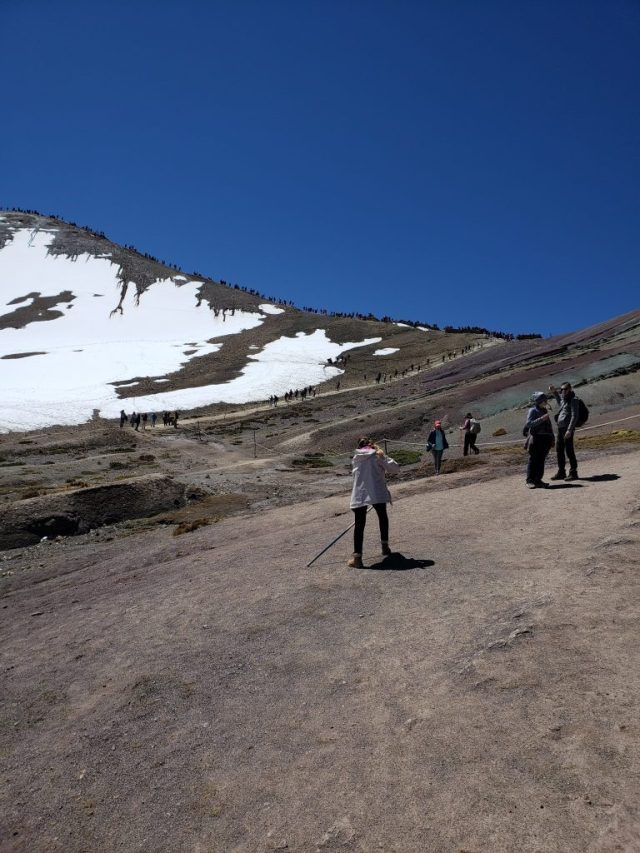 Rainbow Mountain Hike End