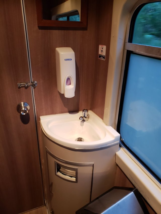 Machu Picchu train sink