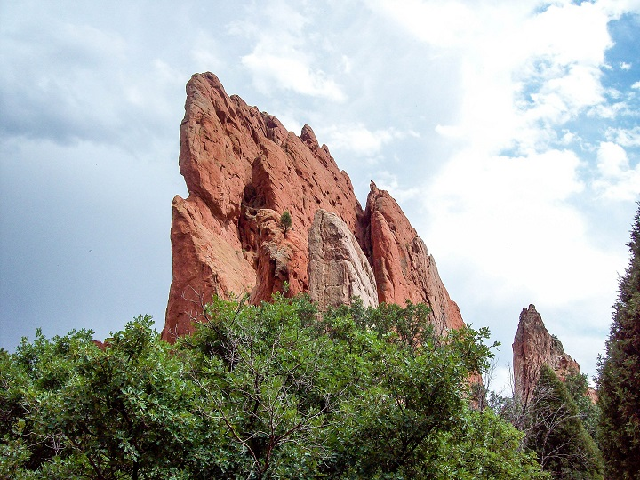 The Garden Of The Gods; this place was amazing, spikes of red rock coming up through the earth. There also happened to be a thunderstorm rolling in at the time and the thunder echoed between the rocks causing an amazing echo effect!