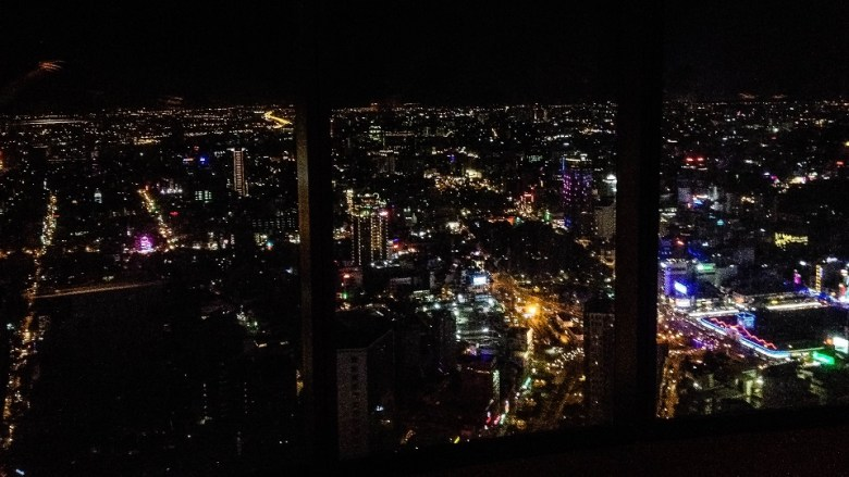 View over Saigon at night from Bitexco Financial Tower