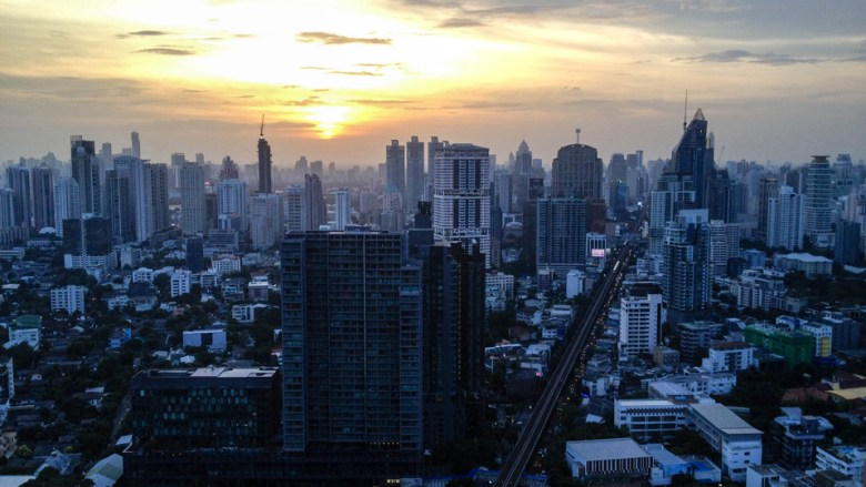 Downtown Bangkok at Sunset