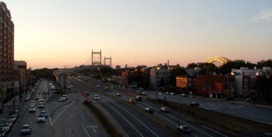 triboro and hellgate bridge, Astoria. photo taken from the train station en route to la guardia airport, nyc 2013