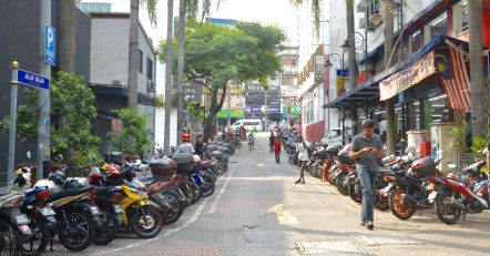KL alleyways & tons of scooters!