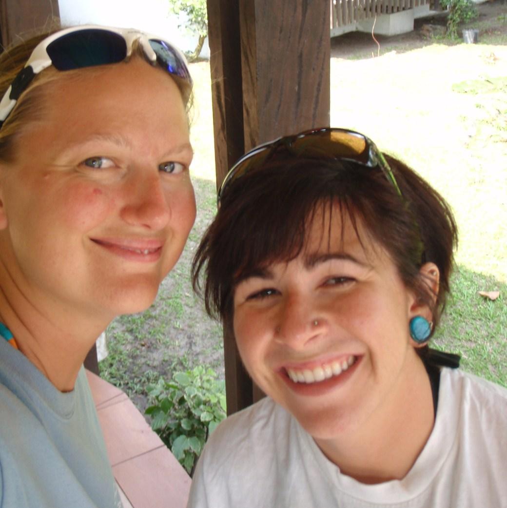 Kelsey Hall and I Selfie; Port Gentil, Gabon; 2010