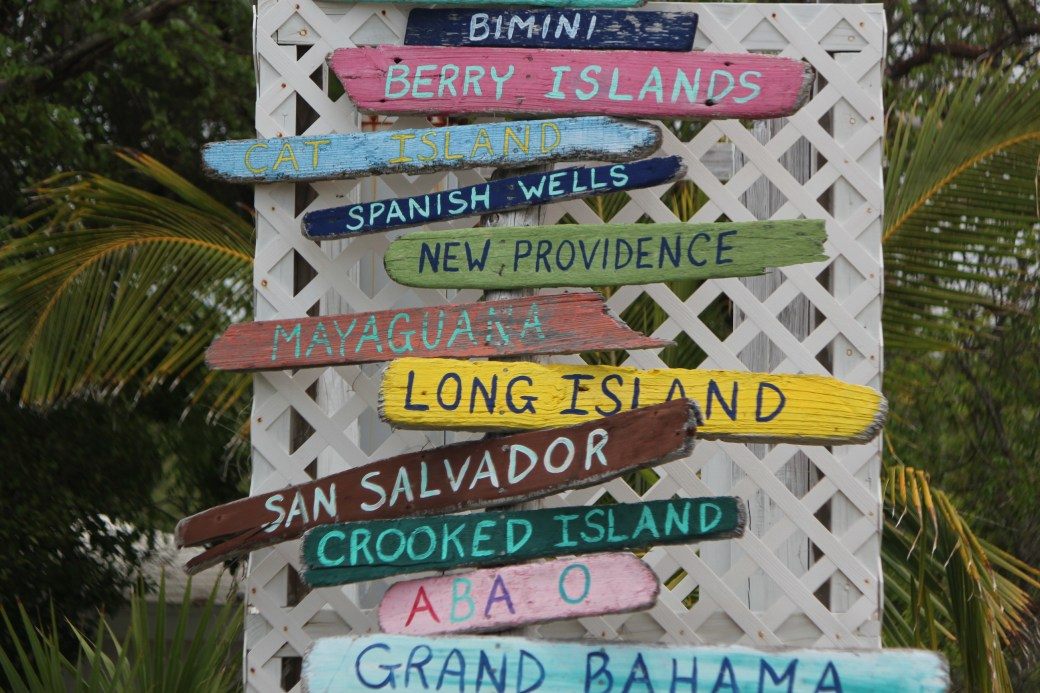 Island Signs; Gregory Town, Eleuthera Island; 2011