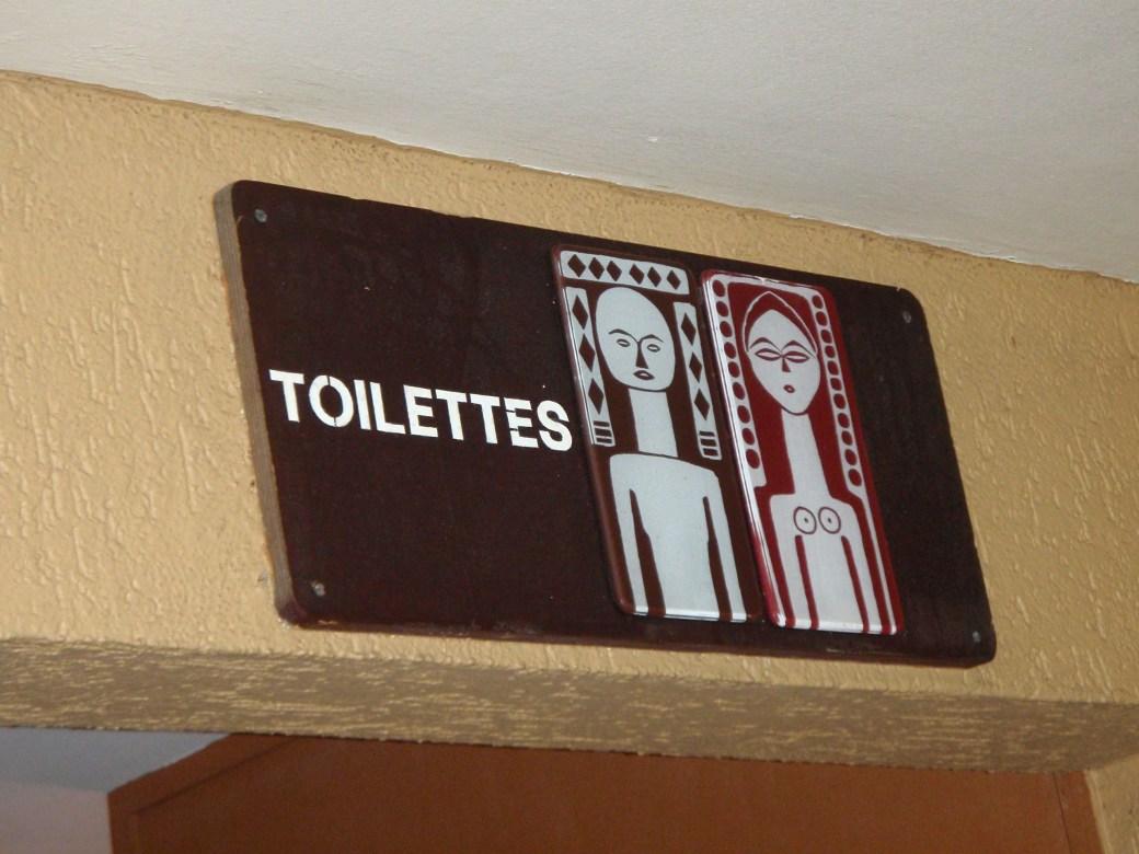 Toilettes Creative Sign; Port Gentil, Gabon; 2010