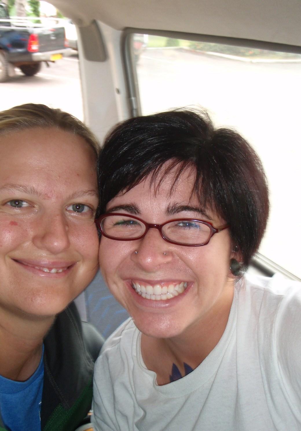 Kelsey and I Selfie; Port Gentil, Gabon; 2010