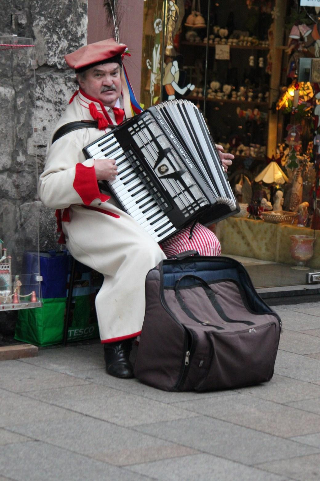 Musician in the Street; Krakow, Poland; 2011