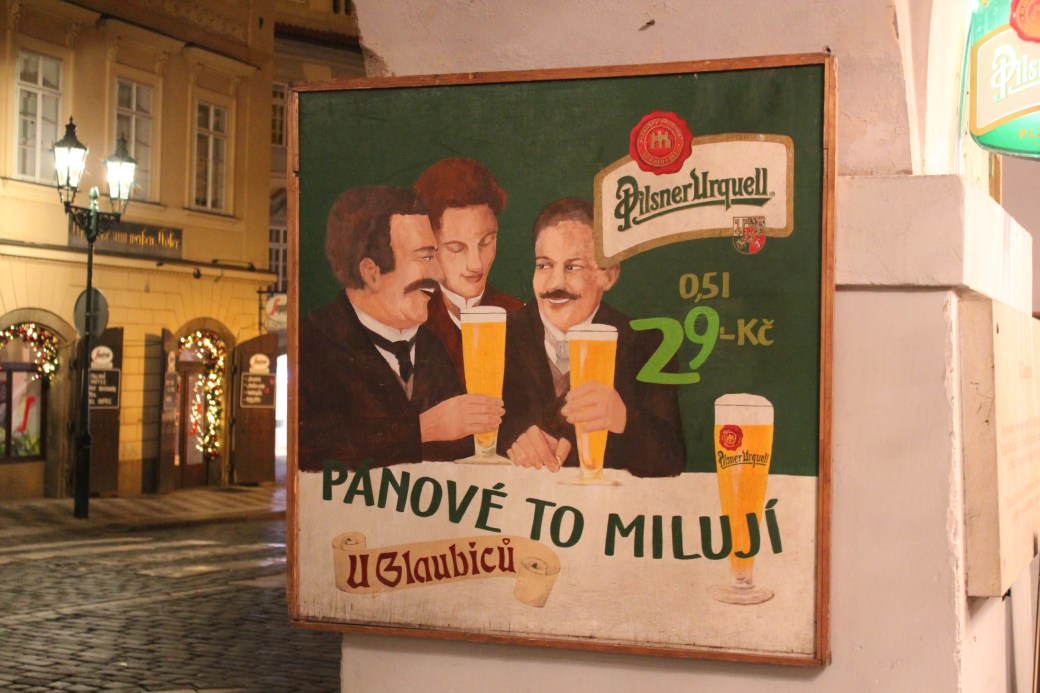 Pub Sign; Prague, Czech Republic; 2011