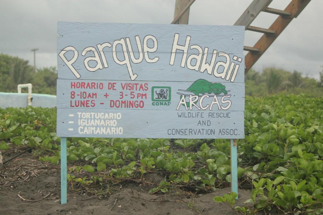 Parque Hawaii Sign; Monterrico, Guatemala; 2013