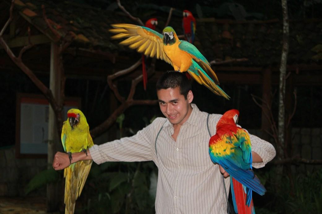 Rob with His New Mates; Copan, Honduras; 2013