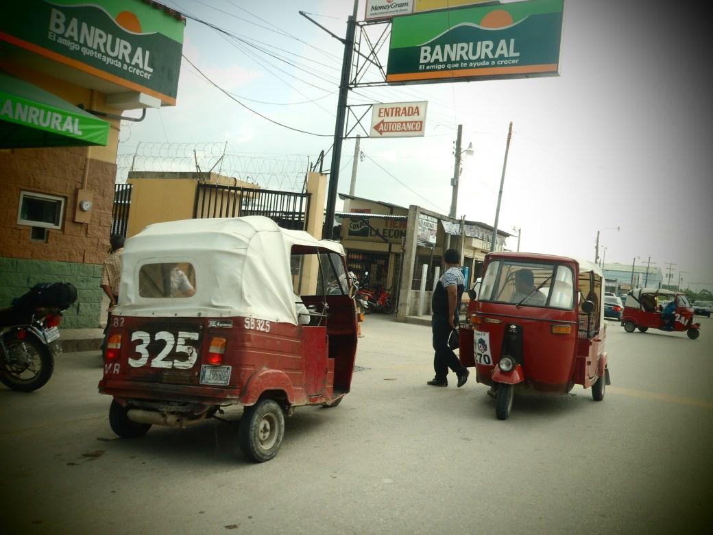 Tuk Tuks on the Street; Flores, Guatemala; 2013