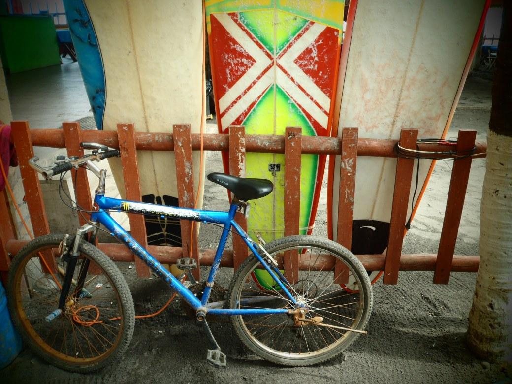 Bicycle with Surfboards; El Tunco, El Salvador; 2013