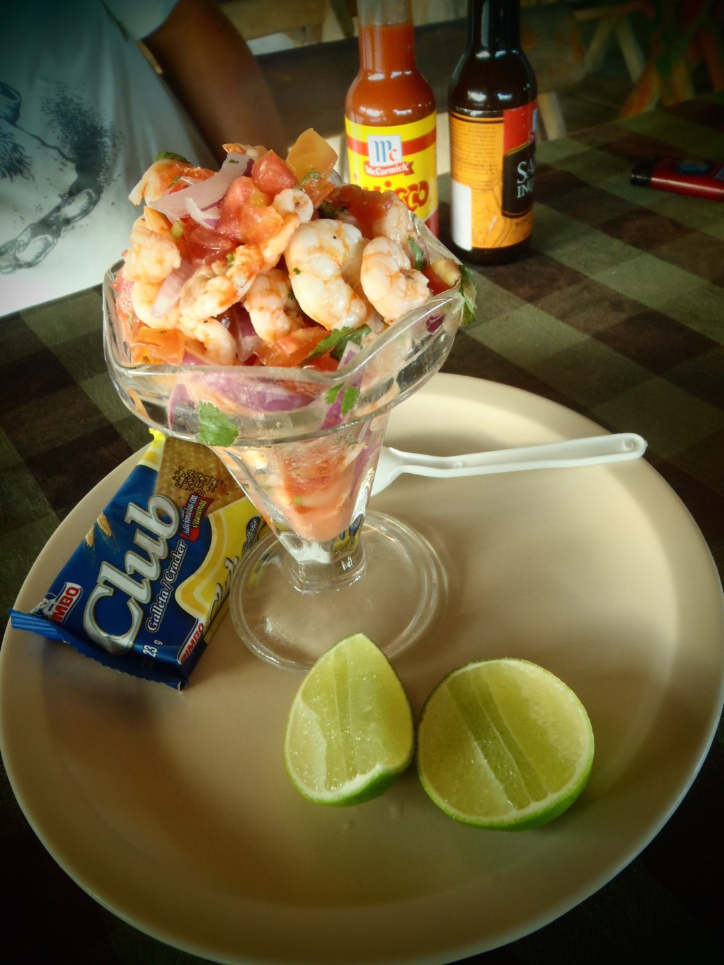 Shrimp Ceviche; El Tunco, El Salvador; 2013