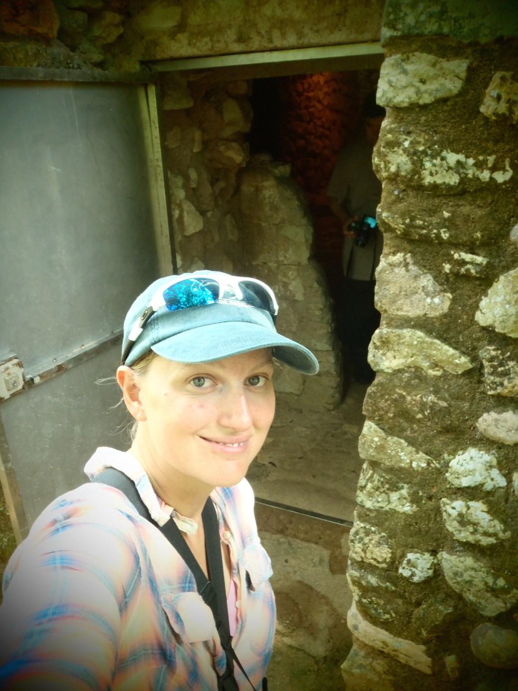 Selfie in Front of King's Tomb; Copan, Honduras; 2013