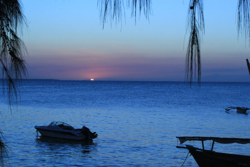 Sunset on the Water; Kizimakzi Dimbani, Zanzibar, Tanzania; 2012