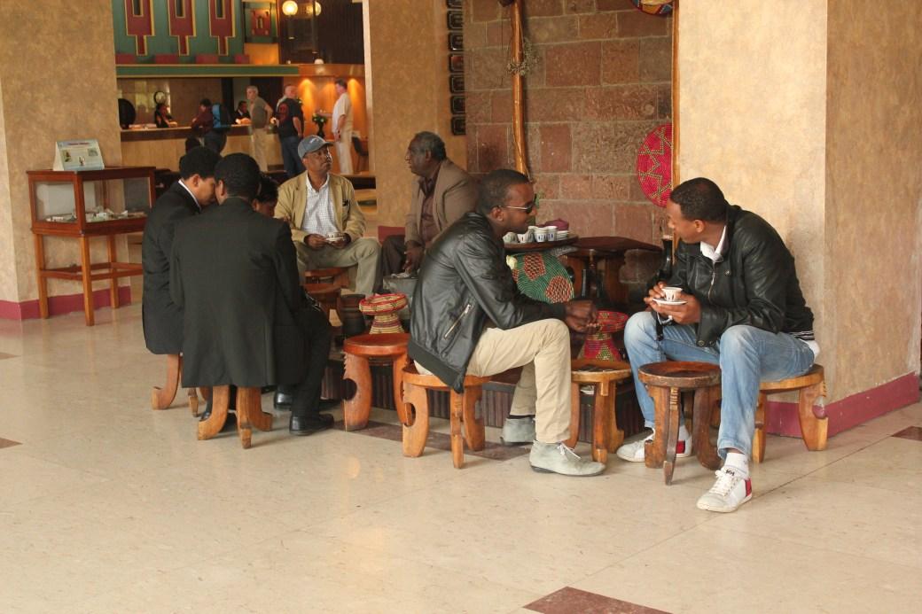 Locals Drinking Tea; Addis Ababa, Ethiopia; 2012