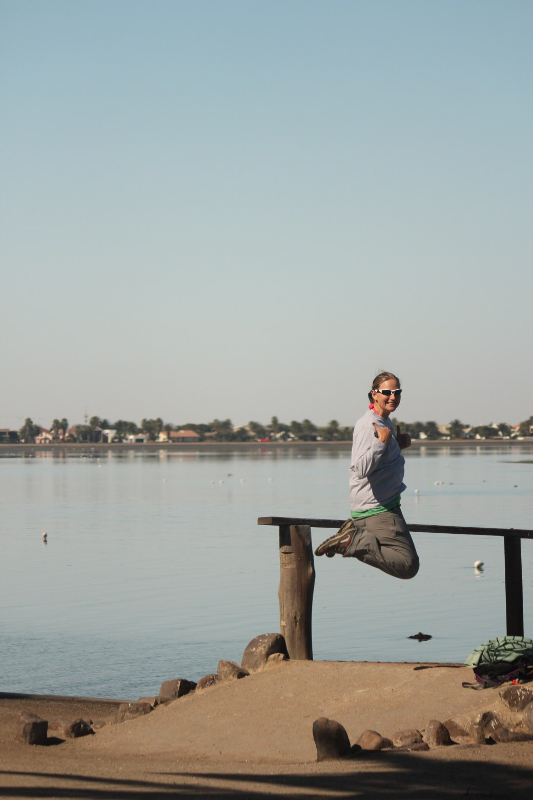 Signature Jumpin' Photograph on Dock; Walvis Bay, Namibia; 2013