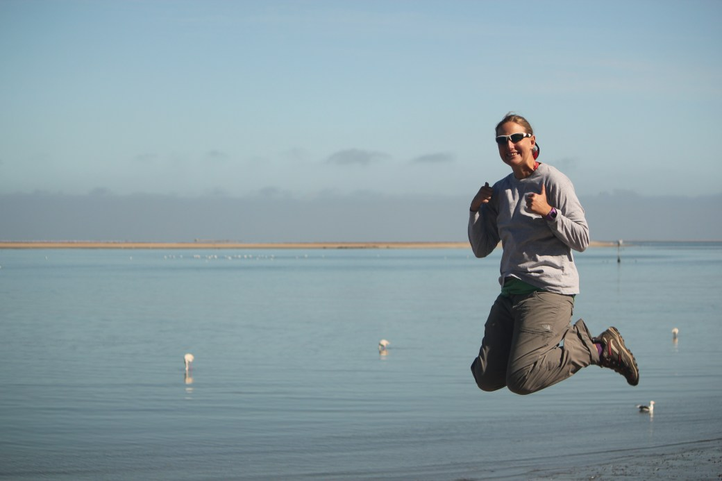 Signature Jumpin' Photograph with Flamingos; Walvis Bay, Namibia; 2013