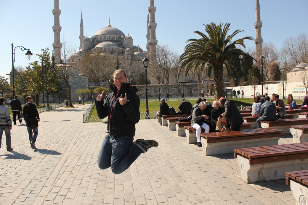Signature Jumpin' Photograph (Outside Mosque); Istanbul, Turkey; 2013