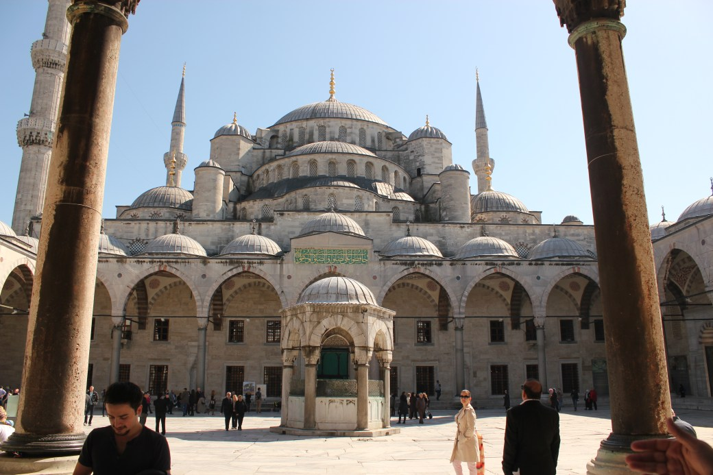 Exterior View of Blue Mosque; Istanbul, Turkey; 2013
