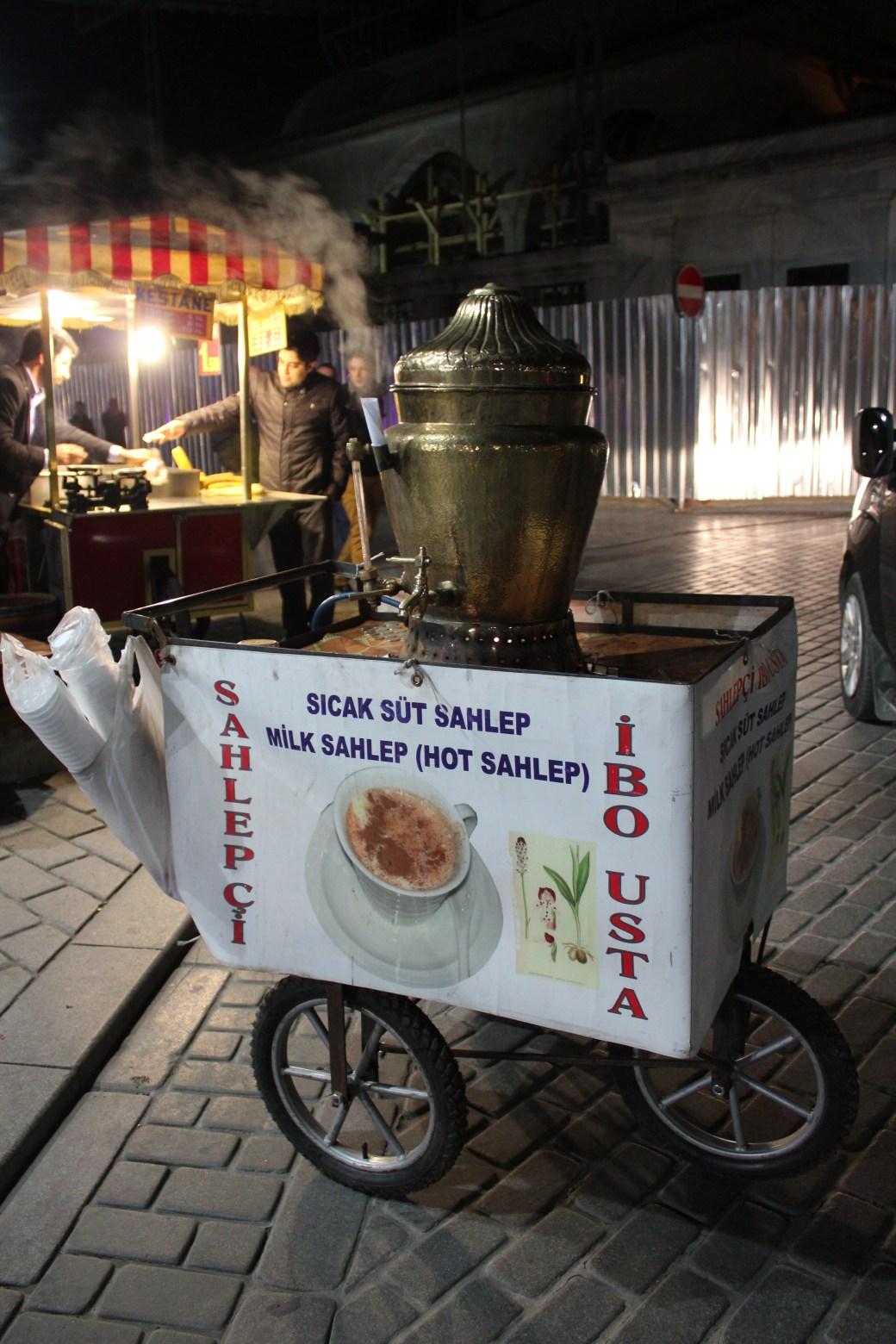 Sahlep Cart; Istanbul, Turkey; 2013