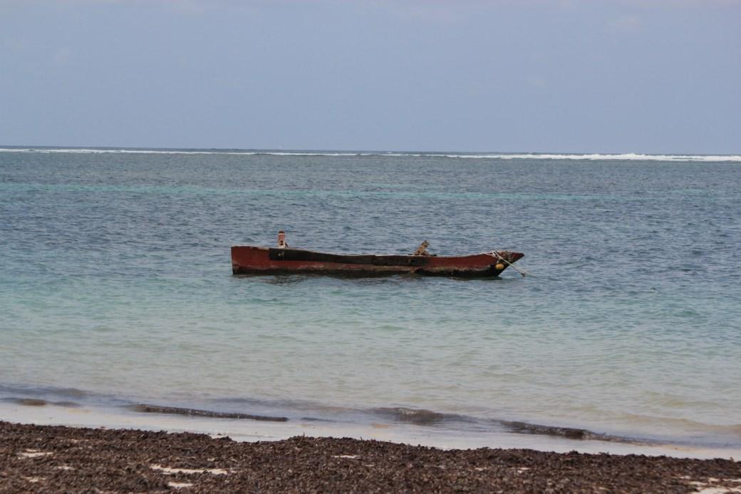 Boat Contrast; Diani Beach, Kenya; 2011