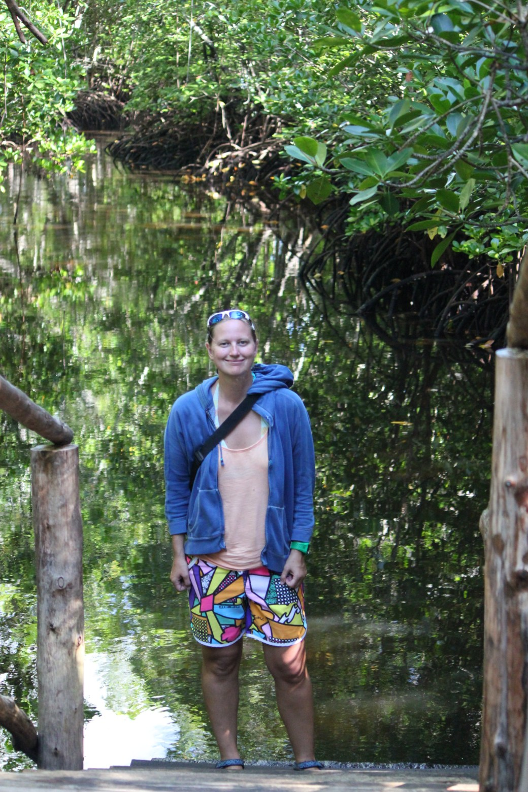 Me in the Mangrove Habitat; Jozani Chwaka Bay National Forest, Zanzibar, Tanzania; 2011