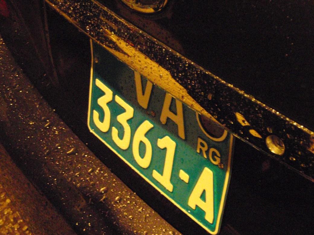 Guinea License Plate; Conakry, Guinea; 2010