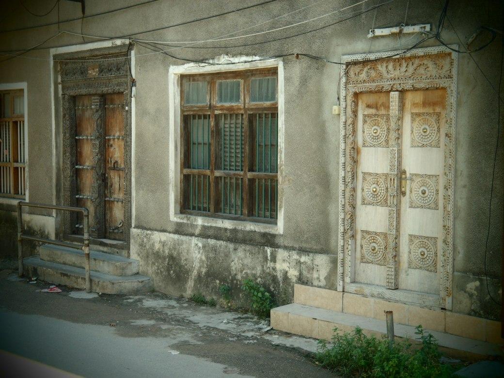Black-n-White Zanzibar Door; Stone Town, Zanzibar, Tanzania; 2012