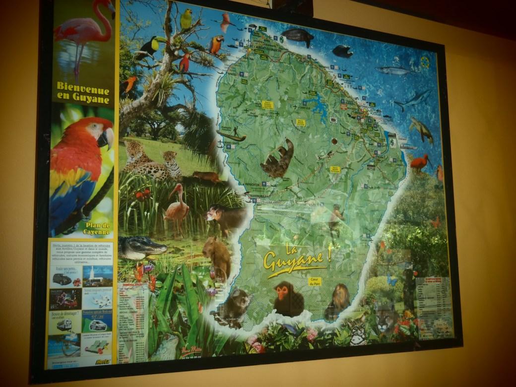 French Guiana Map; Cayenne, French Guiana; 2012