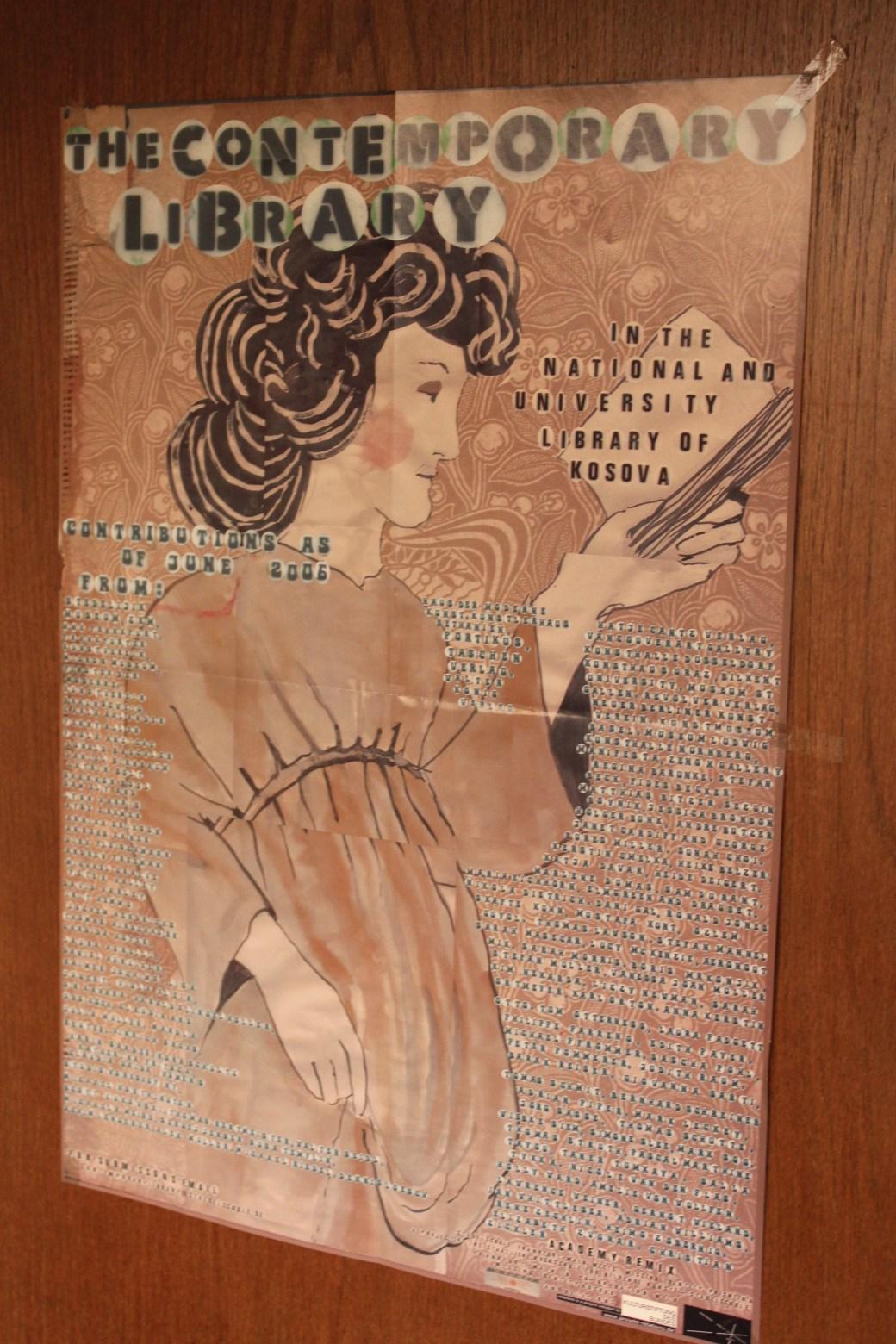 Poster in University Library; Pristina, Kosovo; 2013