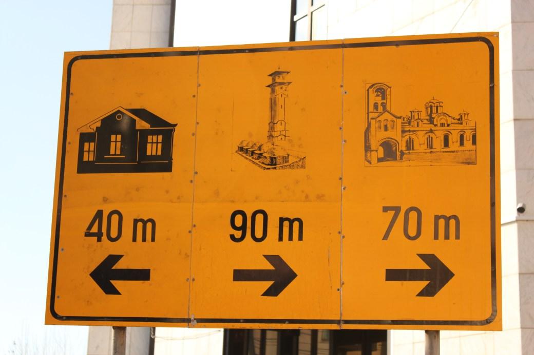 Landmark Distances; Prizren, Kosovo; 2013