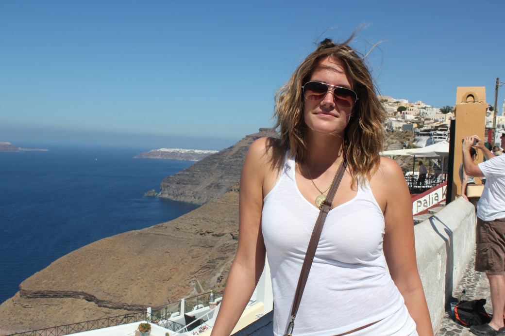 My Good Mate, Ashley; Santorini Island, Greece; 2013