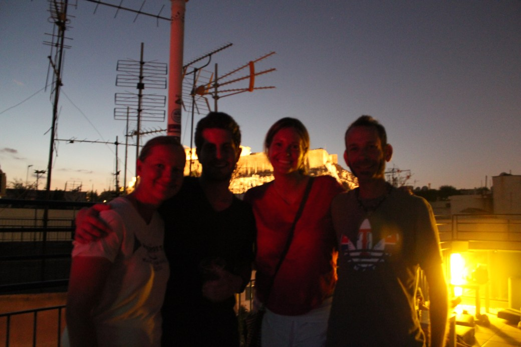 Ashley & I with New Mates; Athens, Greece; 2013