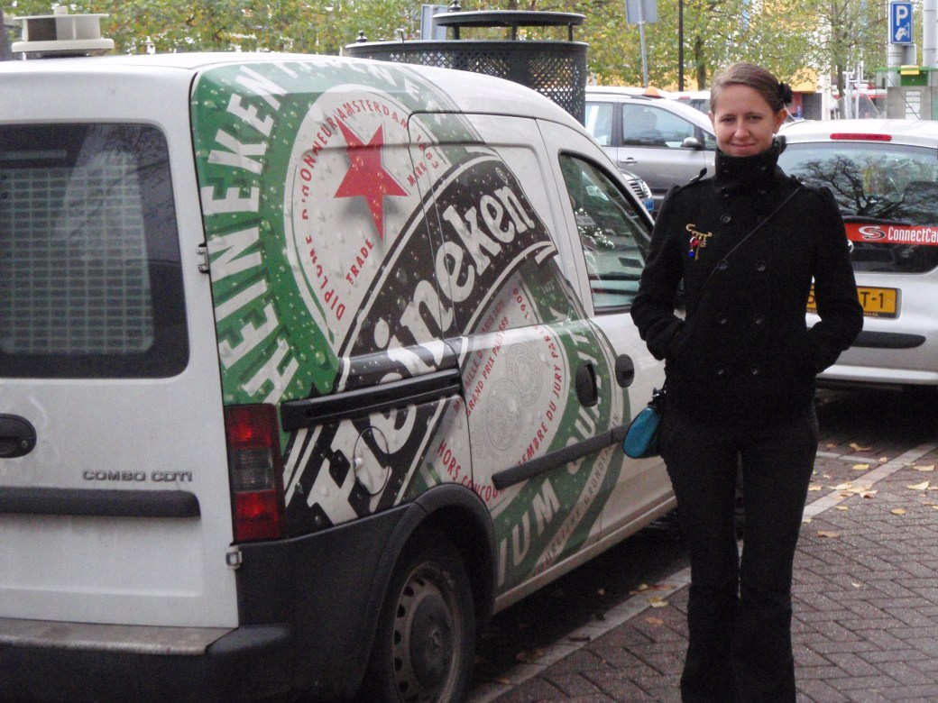 Polish Best Mate, Beata with Heineken Truck; Amsterdam, Netherlands; 2010
