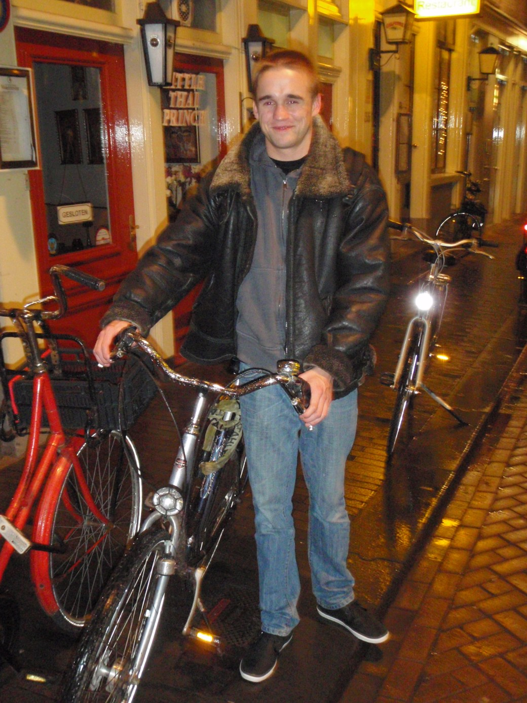 Cute Dutchman with Bike; Amsterdam, Netherlands; 2010
